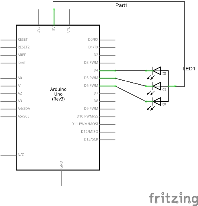 RGB LED schematic