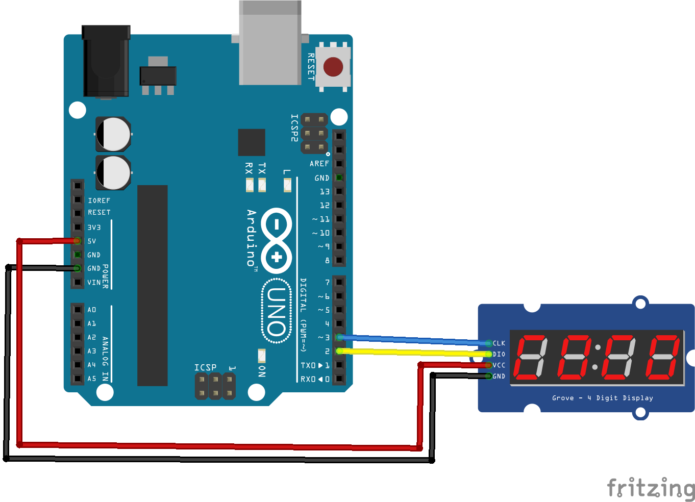 Tm segment display example arduino projects