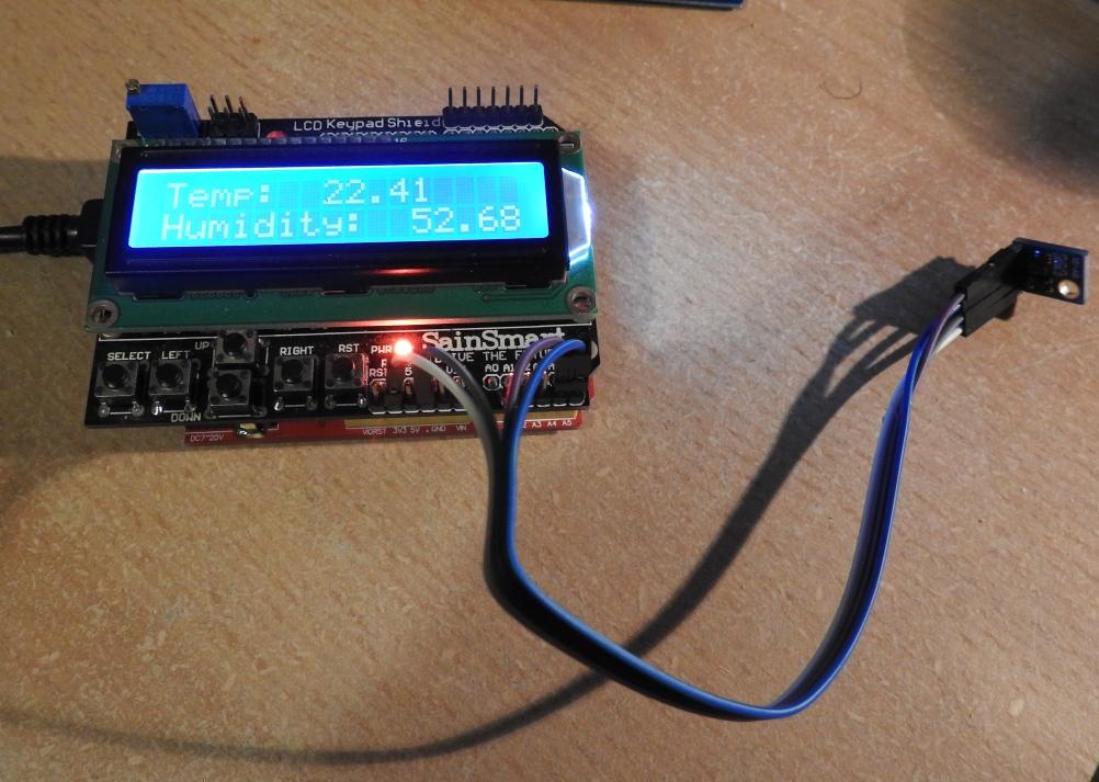 SHT21 and LCD Keypad shield