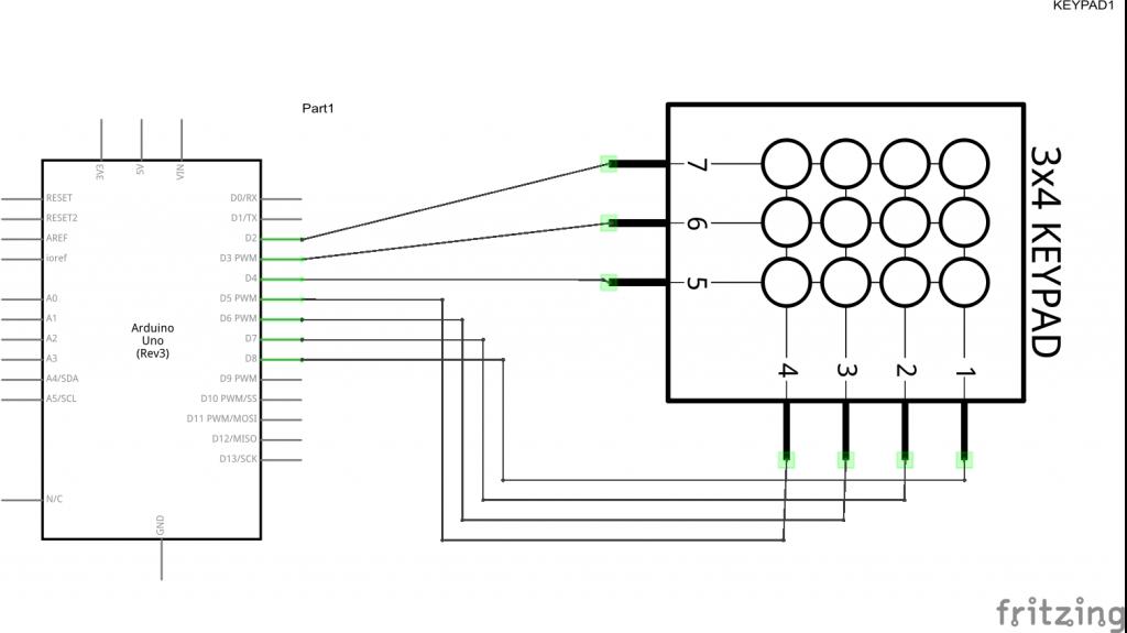 arduino and keypad schematic