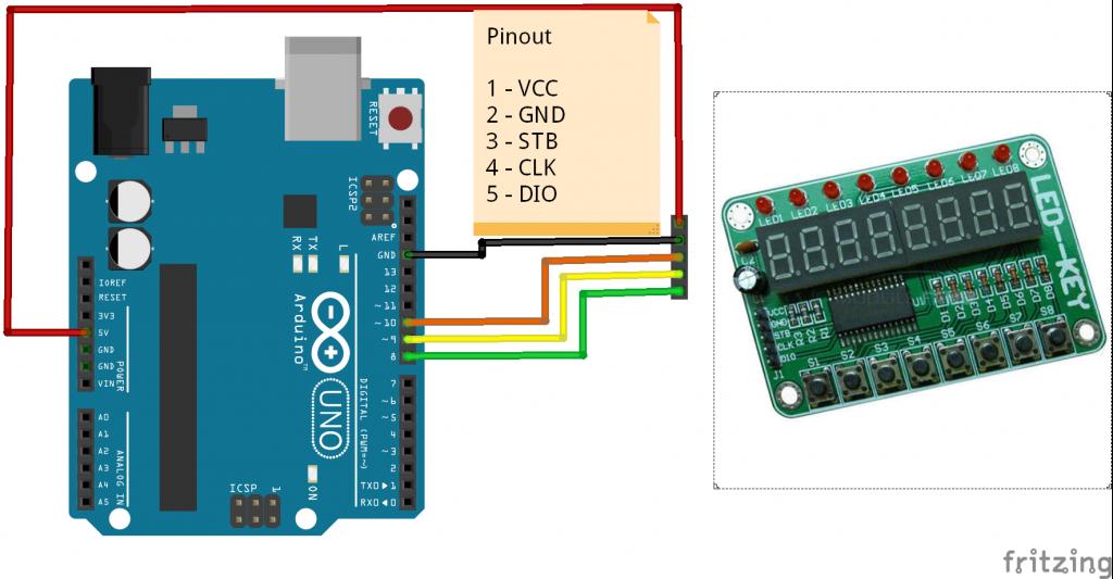 arduino and TM1638