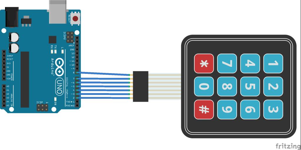arduino and keypad