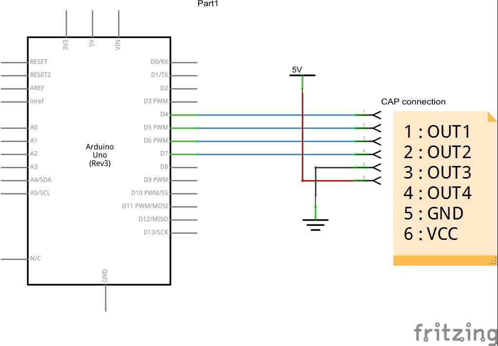 arduino and ttp224 schematic