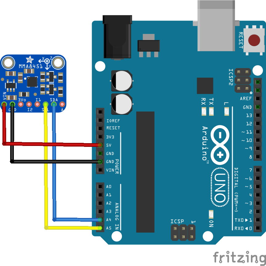 Arduino and a mma accelerometer projects