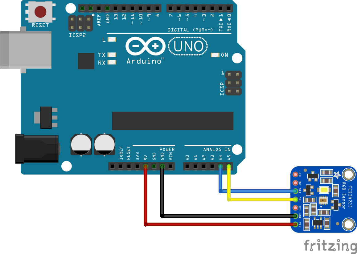 arduino and tcs34725